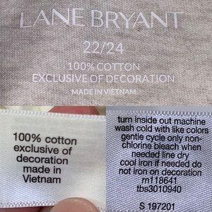 Lane Bryant Tops - Lane Bryan 22/24 Tan V Neck Sequence Beading Tee
